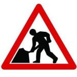 Quazar Road Works Sign 600mm
