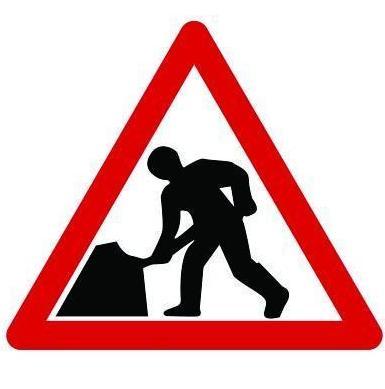 Quazar Road Works Sign 600mm