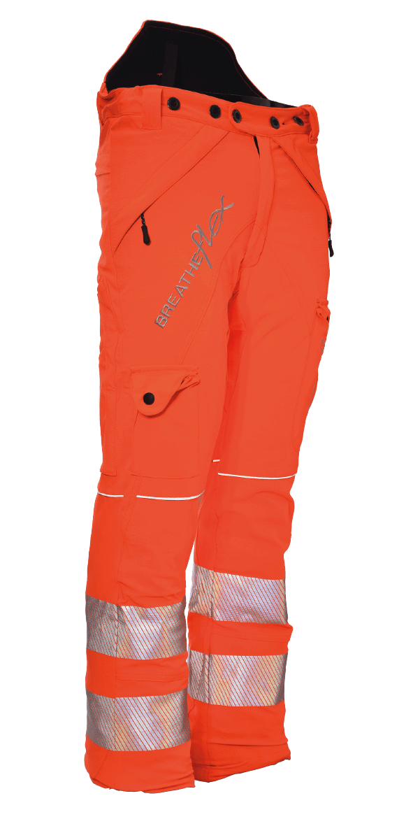 Arbortec Breatheflex Type C Class 1 Trousers Hi Vis Orange GO/RT 3279