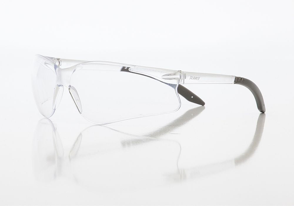 Riley Fabri Safety Glasses (Clear)