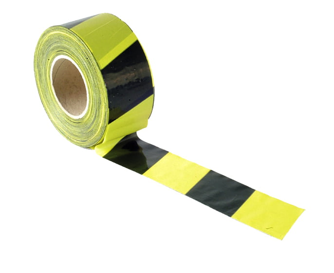 70mm x 500m Black& Yellow Barrier Tape