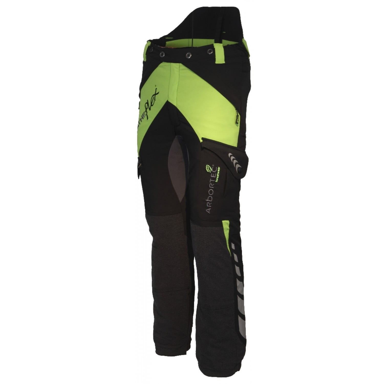 Arbortec Breatheflex Type C Class 2 Trousers Lime & Black