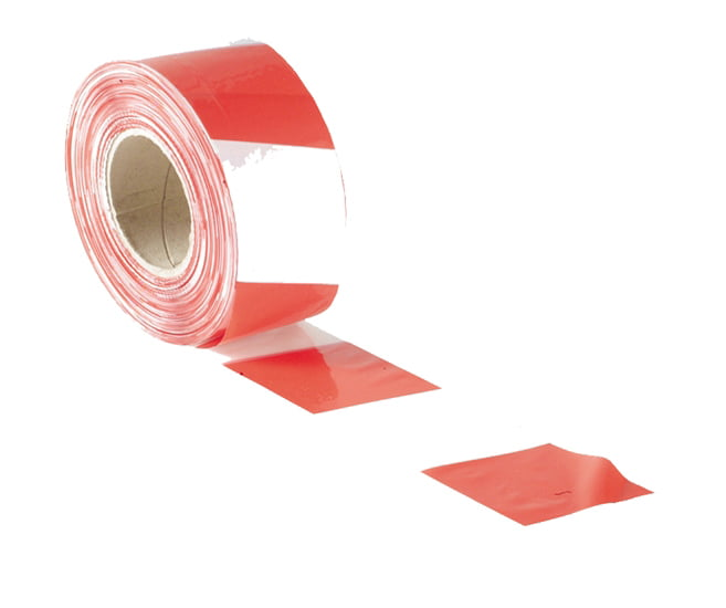 70mm x 500m Red & White Barrier Tape
