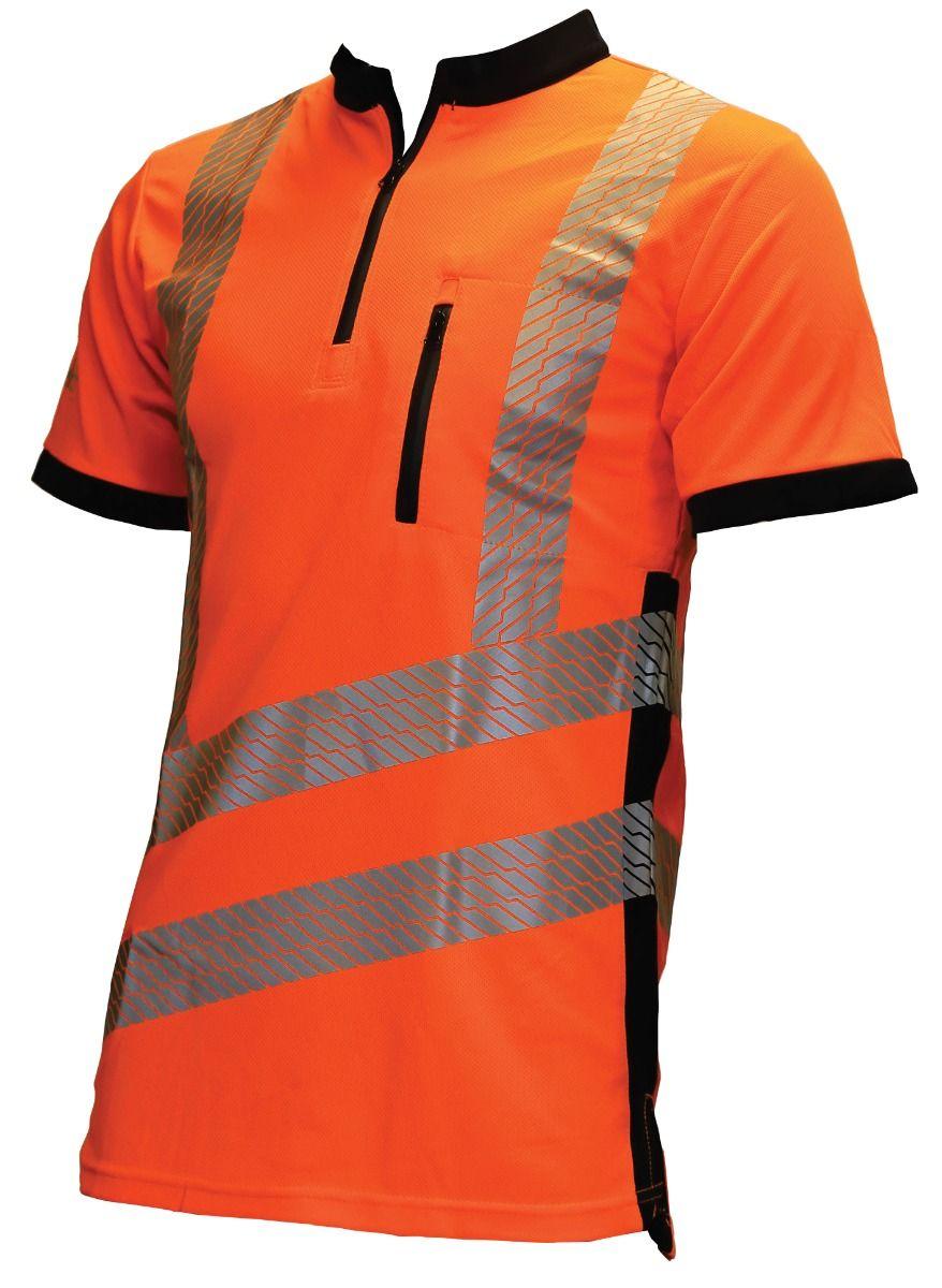 Vented Hi Vis T-shirt Short Sleeve Orange