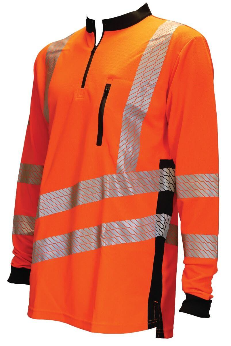 Vented Hi Vis T-shirt Long Sleeve Orange