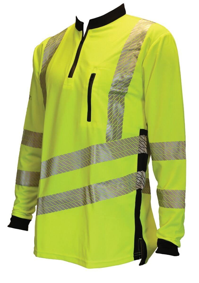 Vented Hi Vis T-shirt Long Sleeve Yellow
