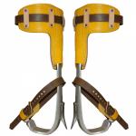 Bashlin Twisted Aluminium Shank Climbers & Leather Pads