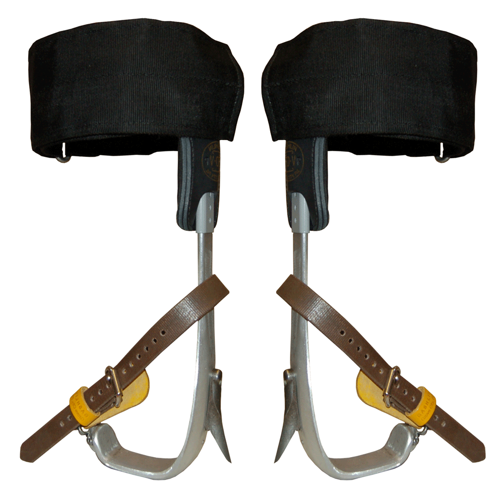 Bashlin Twisted Aluminium Shank Climbers & Velcro Pads